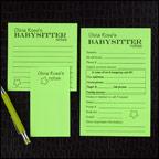 Babysitter Notepads